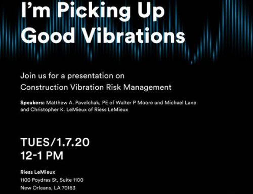 I'm Picking Up Good Vibrations Webinar Hosted by Riess LeMieux and Walter P. Moore